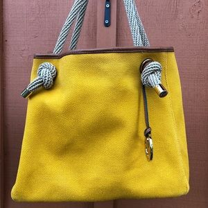 MICHAEL KORS BEAUTIFUL YELLOW MARINA BAG
